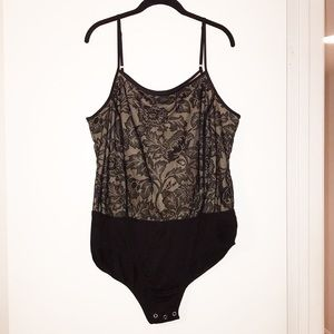 Forever 21 Plus Size Black Lace w/Nude Bodysuit!